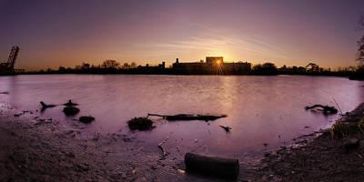 Photograph - Sunset Through Concrete Central by Chris Bordeleau