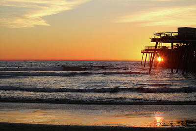 Photograph - Sunset Through Pismo Pier by Art Block Collections
