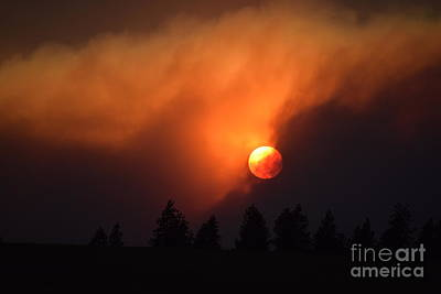 Photograph - Sunset Through Smoke by Larry Johnston