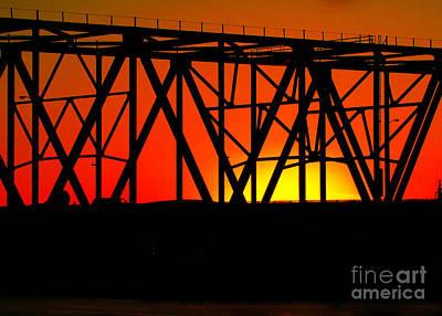 Photograph - Sunset Through The Bridge by RLH Photography