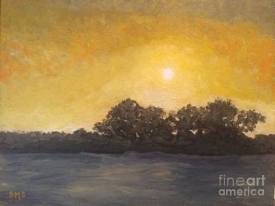 Painting - Sunset Through The Fog by Stella Sherman