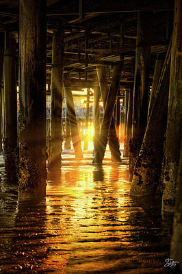 Photograph - Sunset Through The Pier by Endre Balogh