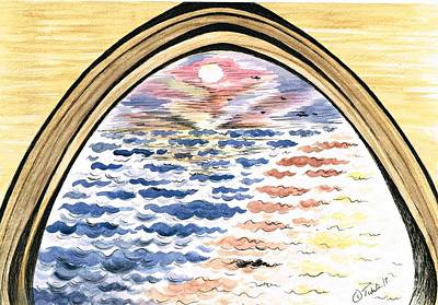 Painting - Sunset Through The Stone Arche by Teresa White