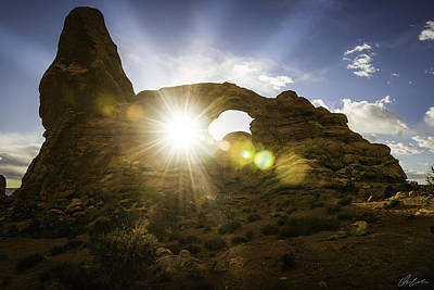Photograph - Sunset Through Turret Arch by Owen Weber