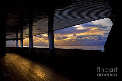 Photograph - Sunset Thru The Quiet Part Of The Ship by Rene Triay Photography