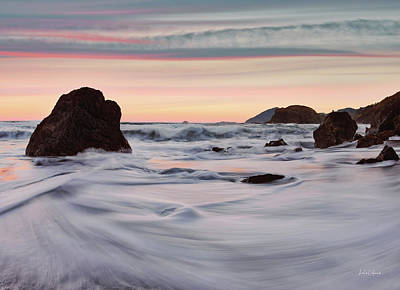 Photograph - Sunset Tides by Leland D Howard