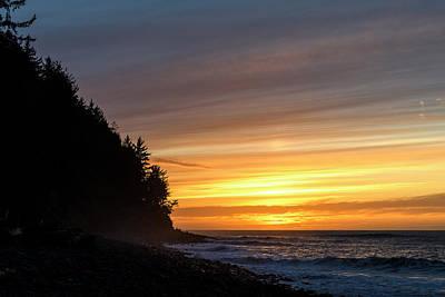Photograph - Sunset Tillamook Head by Robert Potts