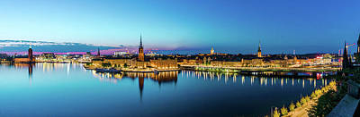 Photograph - Sunset To Blue Hour Panorama Over Gamla Stan In Stockholm by Dejan Kostic