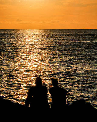 Photograph - Sunset Together In Key West by Bob Slitzan