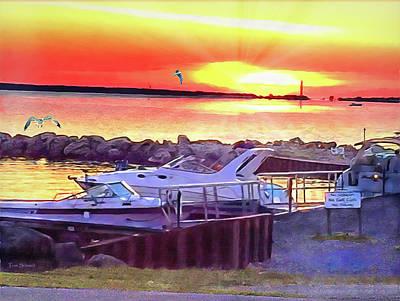 Tom Schmidt Painting - Sunset by Tom Schmidt