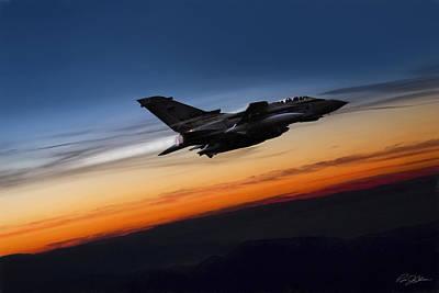 British Digital Art - Sunset Tornado by Peter Chilelli