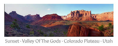 Photograph - Sunset Tour Valley Of The Gods Utah Pan 03 Text by Thomas Woolworth