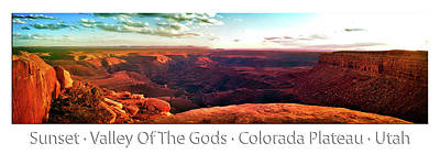 Photograph - Sunset Tour Valley Of The Gods Utah Pan 09 Text by Thomas Woolworth