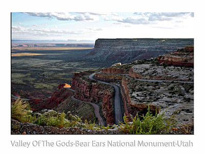 Photograph - Sunset Tour Valley Of The Gods Utah Text 01 by Thomas Woolworth
