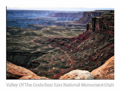 Photograph - Sunset Tour Valley Of The Gods Utah Text 04 by Thomas Woolworth