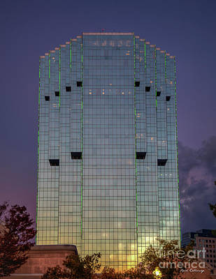 Photograph - Sunset Tower Place Tower Place 100 Buckhead Atlanta Art by Reid Callaway