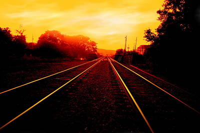 Photograph - Sunset Tracks by Emily Stauring
