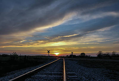 Photograph - Sunset Tracks Vt   by Chris Harris