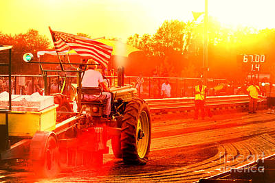 Photograph - Sunset Tractor Pull by Olivier Le Queinec