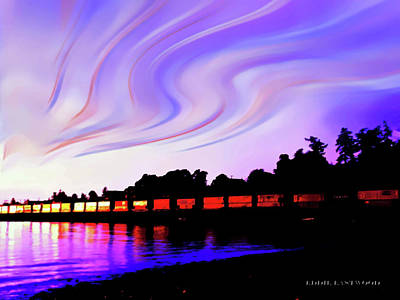 Photograph - Sunset Train At Richmond Beach Washington by Eddie Eastwood