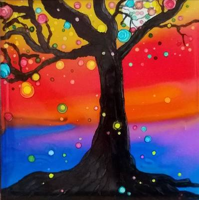 Painting - Sunset Tree by Gerry Smith