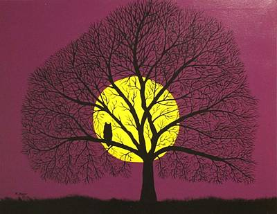 Painting - Sunset Tree by Ralph Root