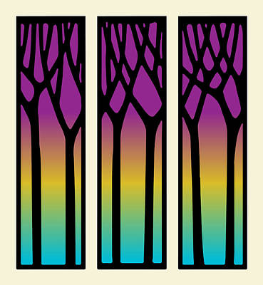 Digital Art - Sunset Trees by Gary Grayson