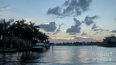 Photograph - Sunset Tropical Canal by Ules Barnwell