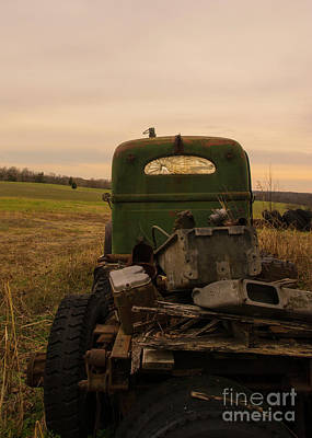 Photograph - Sunset Truck by Terry Rowe