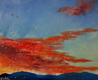 Mystical Landscape Painting - Sunset Tuesday October 6th 2015 The Angelic Hour by William Van Doren