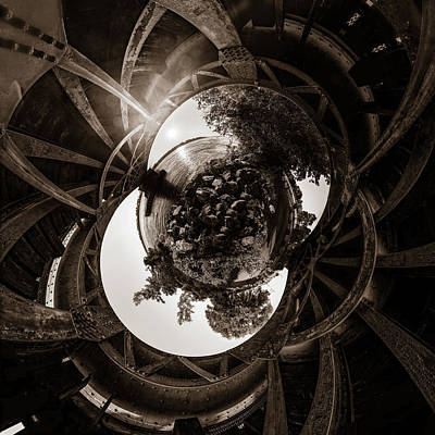 Photograph - Sunset Under An Iron Sky  - Tiny Planet by Chris Bordeleau