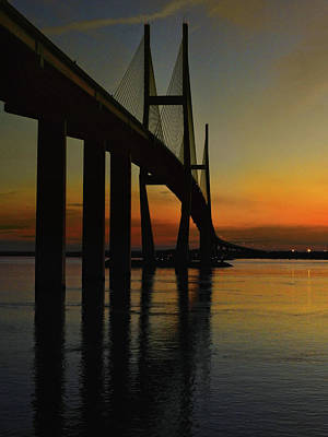 Photograph - Sunset Under The Bridge by Laura Ragland