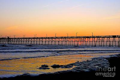 Photograph - Sunset Under The Pier by Shelia Kempf