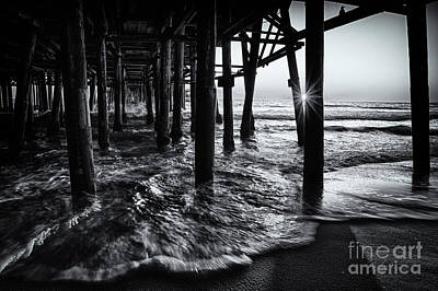 Sunset Under The Santa Monica Pier Art Print