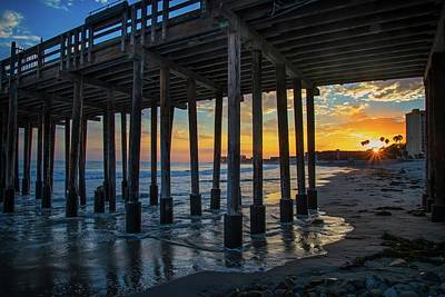 Photograph - Sunset Under The Ventura Pier by Lynn Bauer