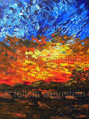 Painting - Sunset V by Felicia Weinstein