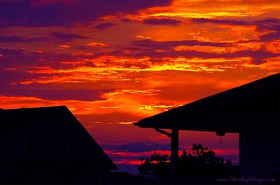Sunset Va 4736 Art Print by PhotohogDesigns