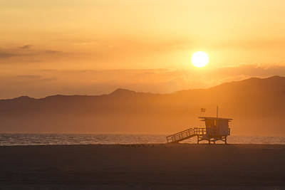Sunset Venice Beach  Art Print