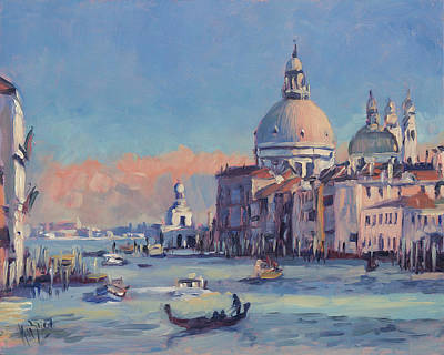 Painting - Sunset Venice by Nop Briex