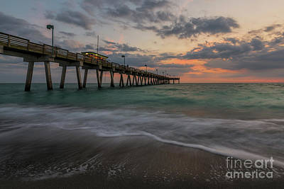 Photograph - Sunset Venice Pier by Damon Powers