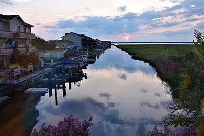 Photograph - Sunset View At The Art League Of Ocean City - Maryland by Kim Bemis