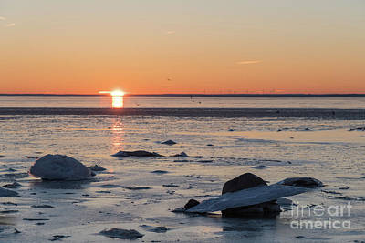 Photograph - Sunset View By An Icy Coast by Kennerth and Birgitta Kullman