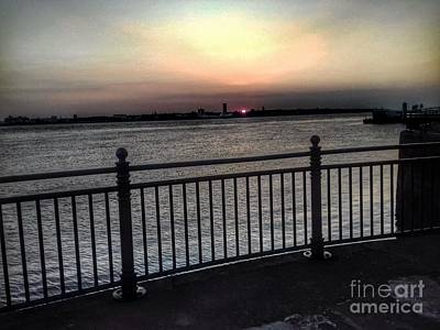 Photograph - Sunset View From Albert Dock by Joan-Violet Stretch
