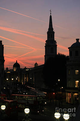 Art Print featuring the photograph Sunset View From Charing Cross  by Paula Guttilla