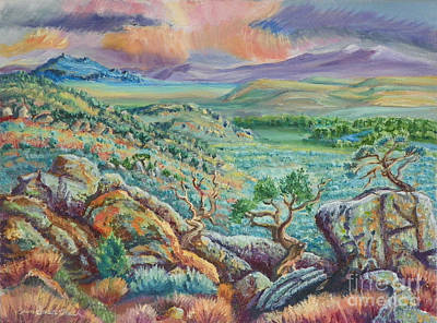 Painting - Sunset View From The Cedar Breaks by Dawn Senior-Trask