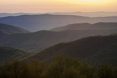 Photograph - Sunset View From The Skyline Drive by Lauren Brice