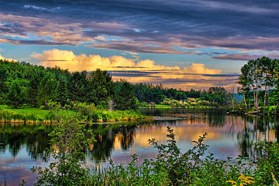 Art Print featuring the photograph Sunset View by Gary Smith