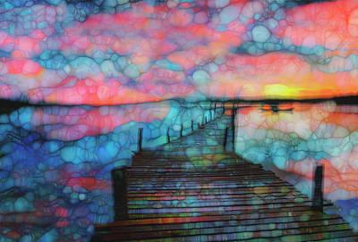 Fish Underwater Painting - Sunset View by Jack Zulli