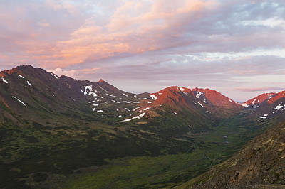 Flattop Mountain Photograph - Sunset View Of Williwaw Valley by Michael DeYoung