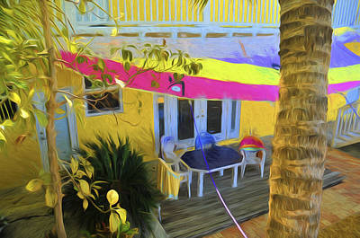 Photograph - Sunset Villas Apartment Patio by Ginger Wakem